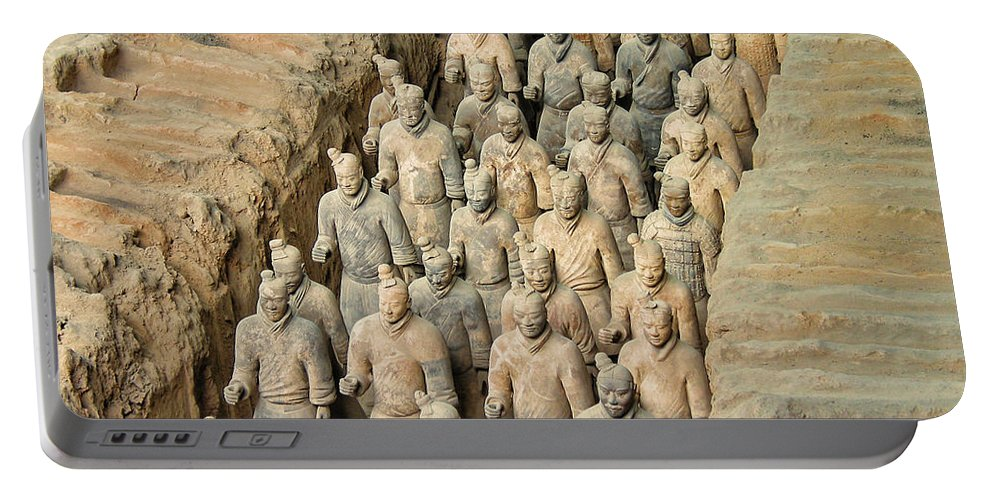 Travel Portable Battery Charger featuring the photograph Terra Cotta Warriors by David Gleeson