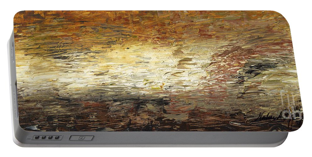Terra Portable Battery Charger featuring the painting Terra by Nadine Rippelmeyer