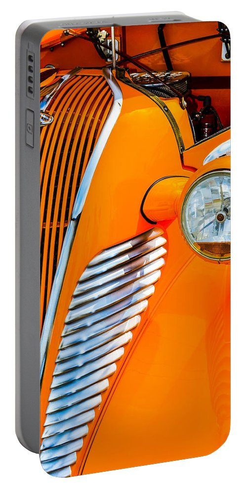 Terraplane Portable Battery Charger featuring the photograph Terraplane Grille by Carolyn Marshall