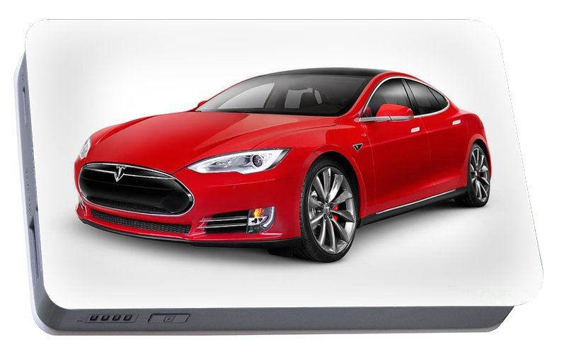 Tesla Model S Red Luxury Electric Car Portable Battery Charger