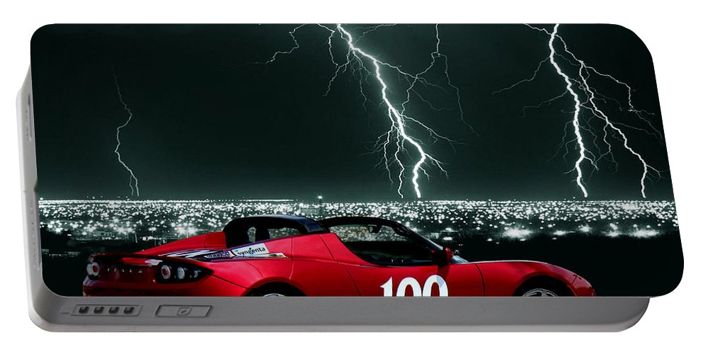 Tesla Portable Battery Charger featuring the photograph Tesla by Sylvia Thornton