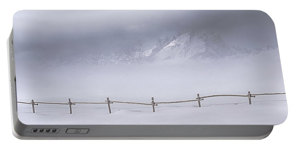Grand Teton National Park Portable Battery Charger featuring the photograph Teton Morning by Priscilla Burgers