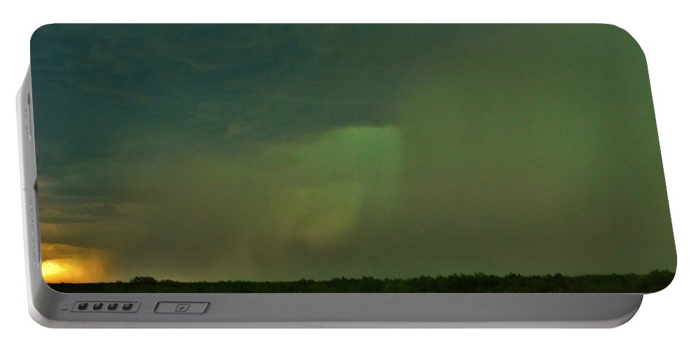 Texas Portable Battery Charger featuring the photograph Texas Microburst by Ed Sweeney