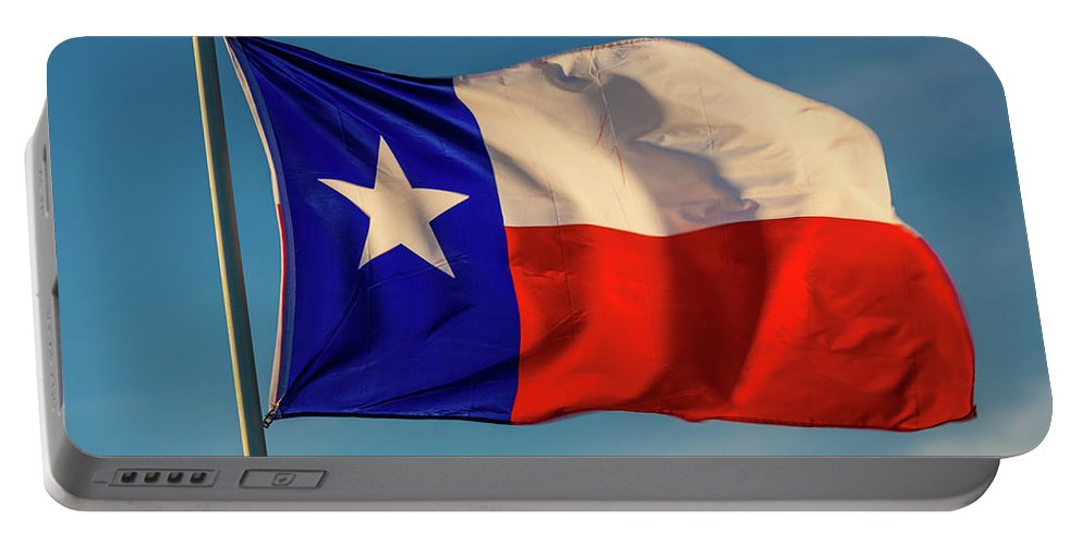 Photography Portable Battery Charger featuring the photograph Texas State Flag - Texas Lone Star Flag by Panoramic Images