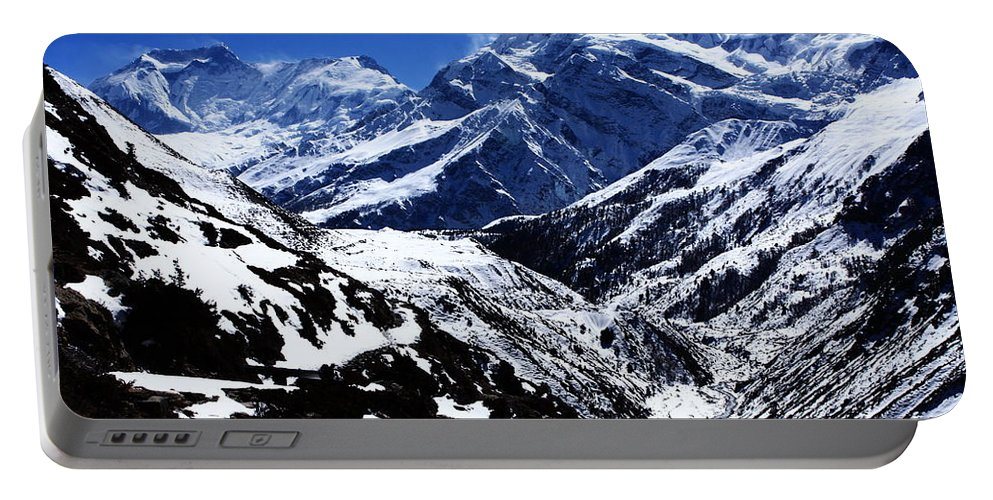 Mountains Portable Battery Charger featuring the photograph The Annapurna Circuit - The Himalayas by Aidan Moran