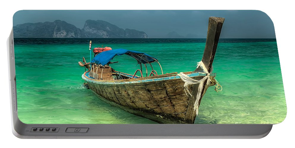 Boat Portable Battery Charger featuring the photograph Thai Boat by Adrian Evans