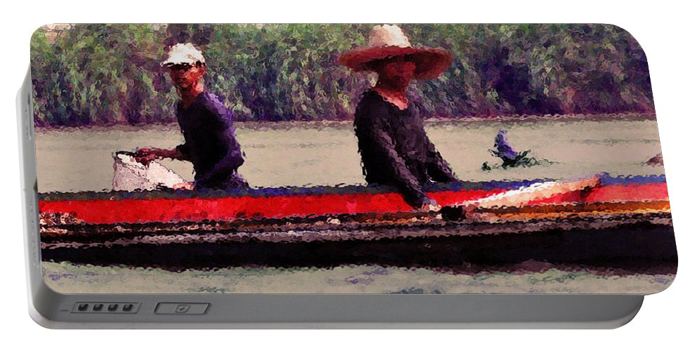 Fishing Portable Battery Charger featuring the photograph Thai Fisherman by Lydia Holly