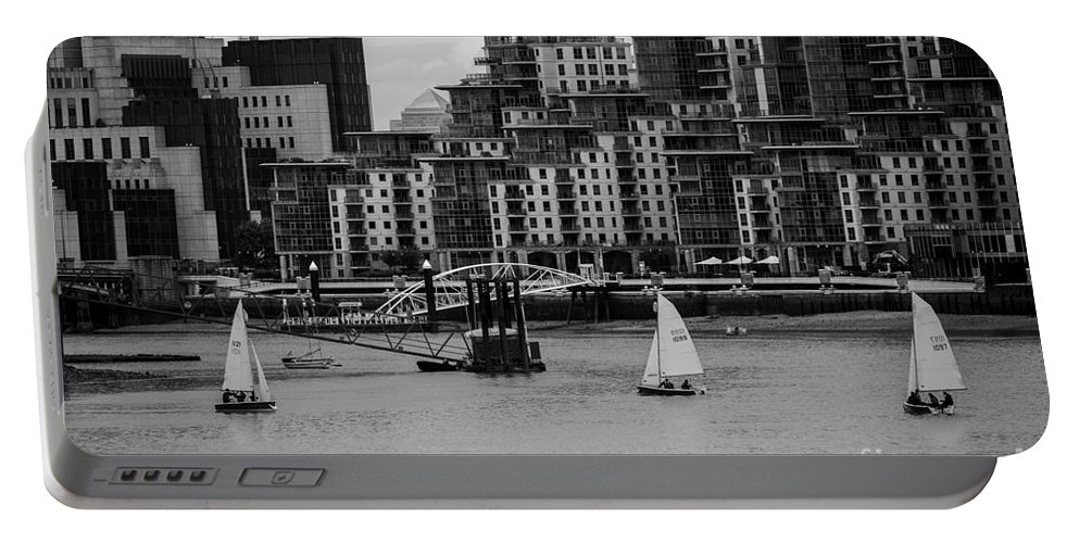 Sail Portable Battery Charger featuring the photograph Thames Sailing by Matt Malloy