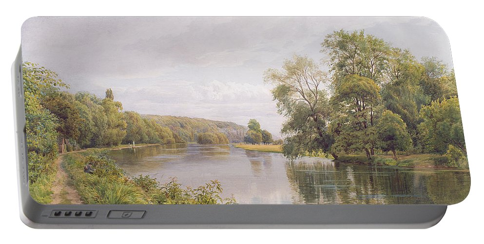 River Portable Battery Charger featuring the painting Thames by William Bradley