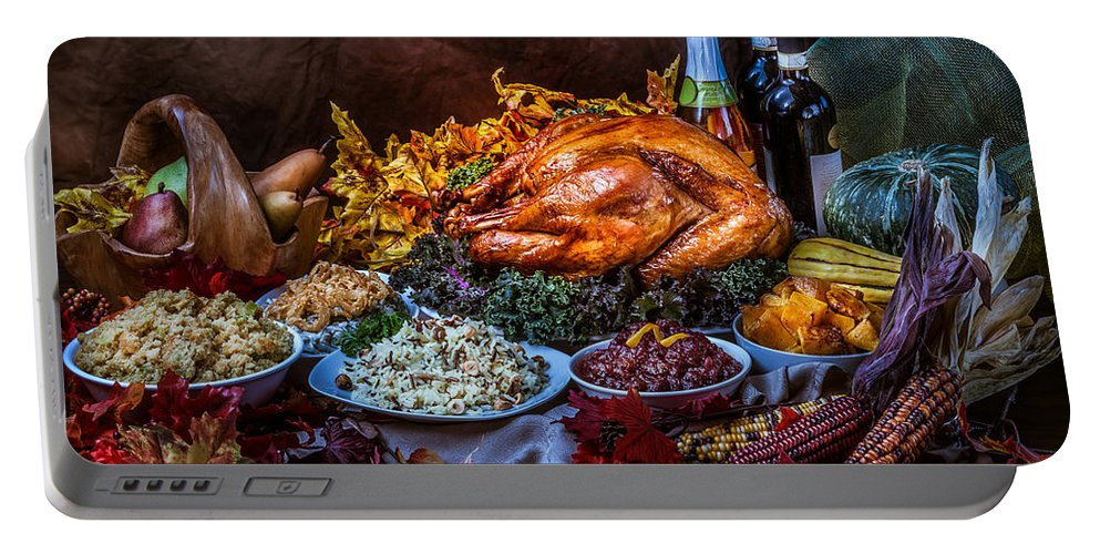 Thanksgiving Portable Battery Charger featuring the photograph Thanksgiving Dinner by Mike Penney