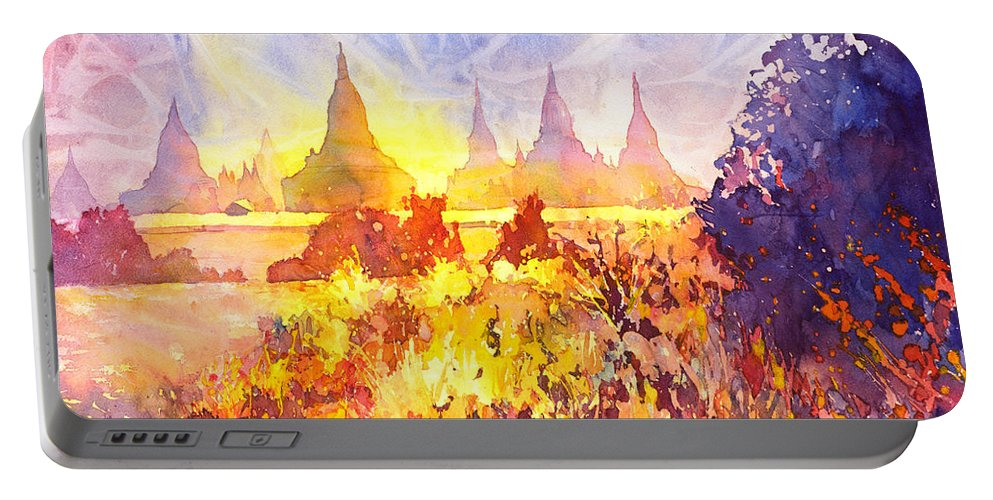 Myanmar Portable Battery Charger featuring the painting That Ruined Feeling by Ryan Fox