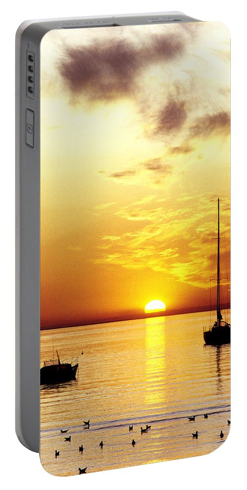 Sunset Portable Battery Charger featuring the photograph That Sky by Anthony Davey