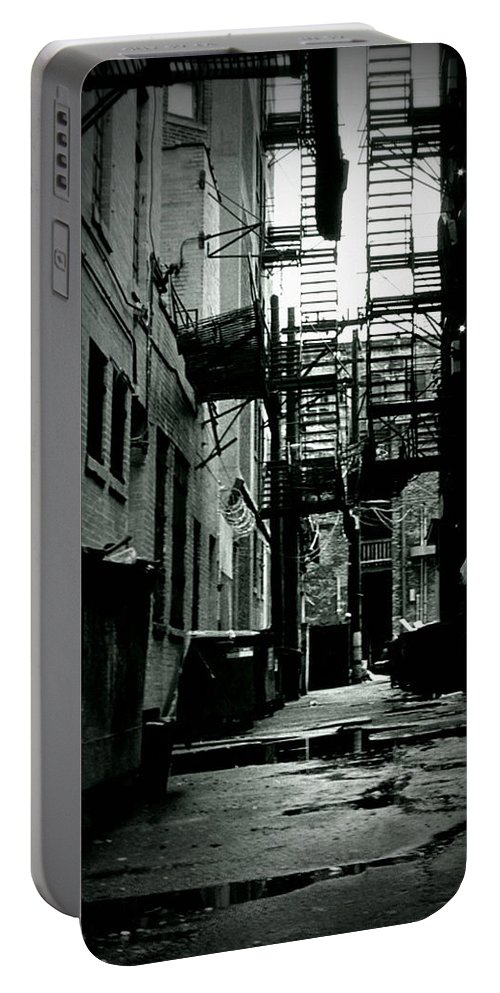 City Portable Battery Charger featuring the photograph The Alleyway by Michelle Calkins