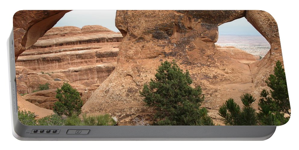 Arch Portable Battery Charger featuring the photograph The Arches Of Double O Arch by Christiane Schulze Art And Photography