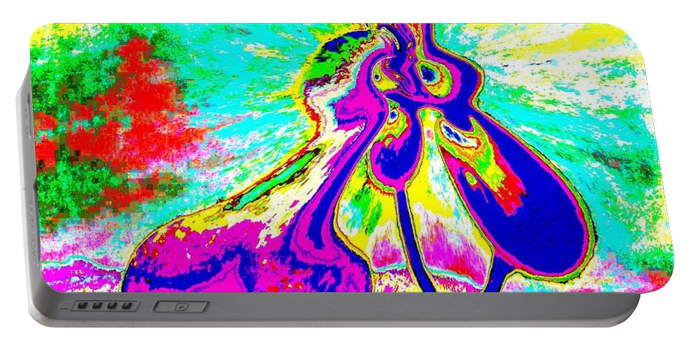 Genio Portable Battery Charger featuring the mixed media The Awakening Of Eros by Genio GgXpress