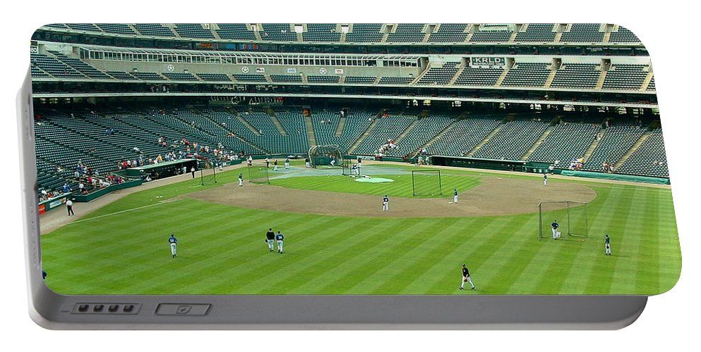 Ballpark Portable Battery Charger featuring the photograph The Ballpark by Darrell Clakley