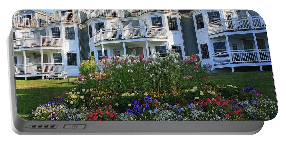 Maine Portable Battery Charger featuring the photograph The Bar Harbor Inn - Maine by Dora Sofia Caputo Photographic Design and Fine Art