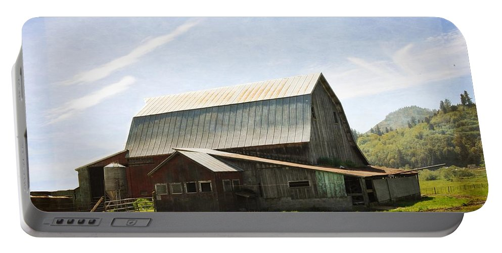 Barn Portable Battery Charger featuring the photograph The Barn by Image Takers Photography LLC