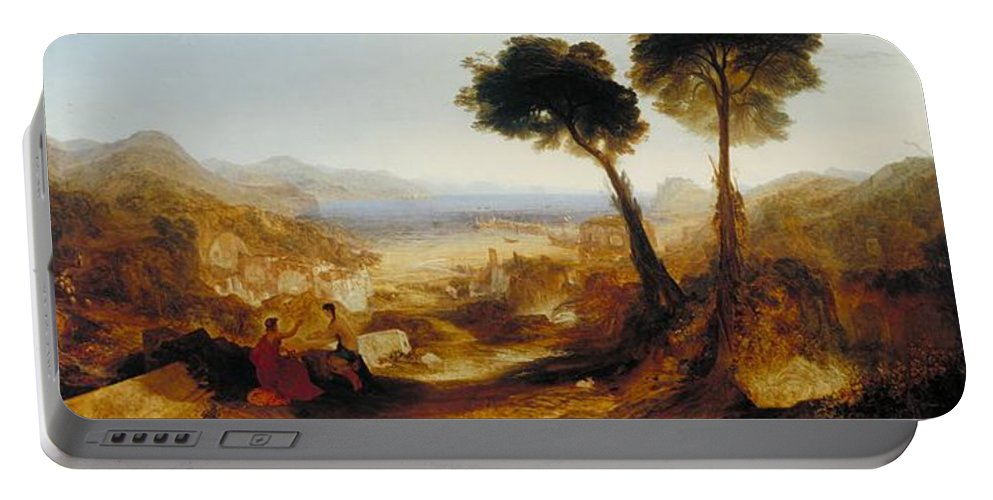 1823 Portable Battery Charger featuring the painting The Bay Of Baiae With Apollo And The Sibyl by JMW Turner