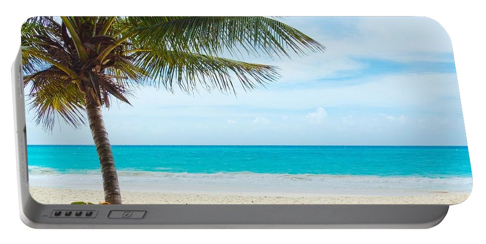 Clearing Portable Battery Charger featuring the photograph The Beach by FL collection