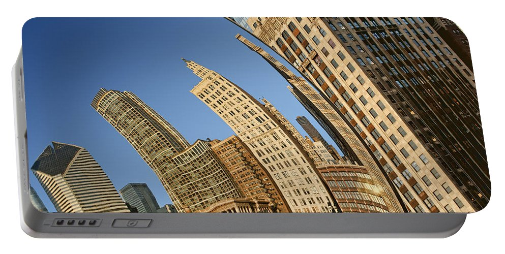 Cloud Gate Portable Battery Charger featuring the photograph The Bean - 2 by Nikolyn McDonald
