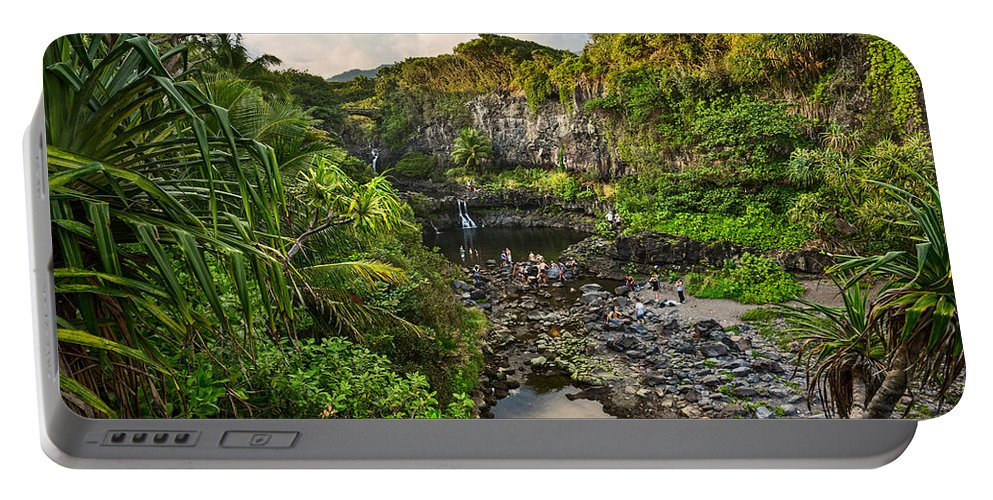 Seven Sacred Pools Portable Battery Charger featuring the photograph The Beautiful Scene Of The Seven Sacred Pools Of Maui. by Jamie Pham