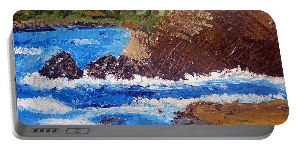 Landscape Painting Portable Battery Charger featuring the painting The Beauty Of Nature by Yael VanGruber