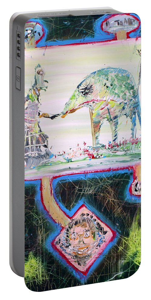 Human Portable Battery Charger featuring the painting The Beloved Ones by Fabrizio Cassetta
