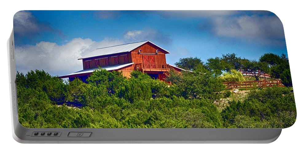 Red Barn Portable Battery Charger featuring the photograph The Big Red Barn by Kristina Deane