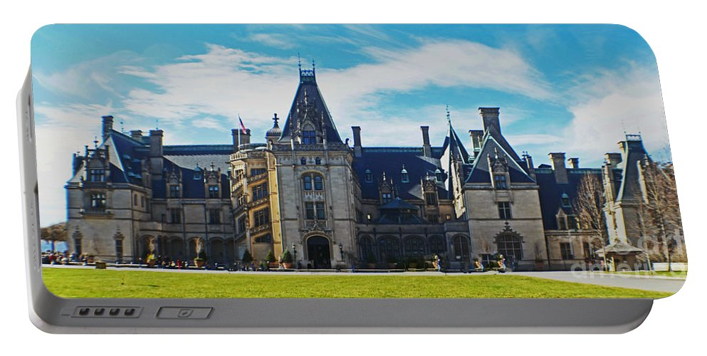 Biltmore Estate Portable Battery Charger featuring the photograph The Biltmore Estate by Luther Fine Art