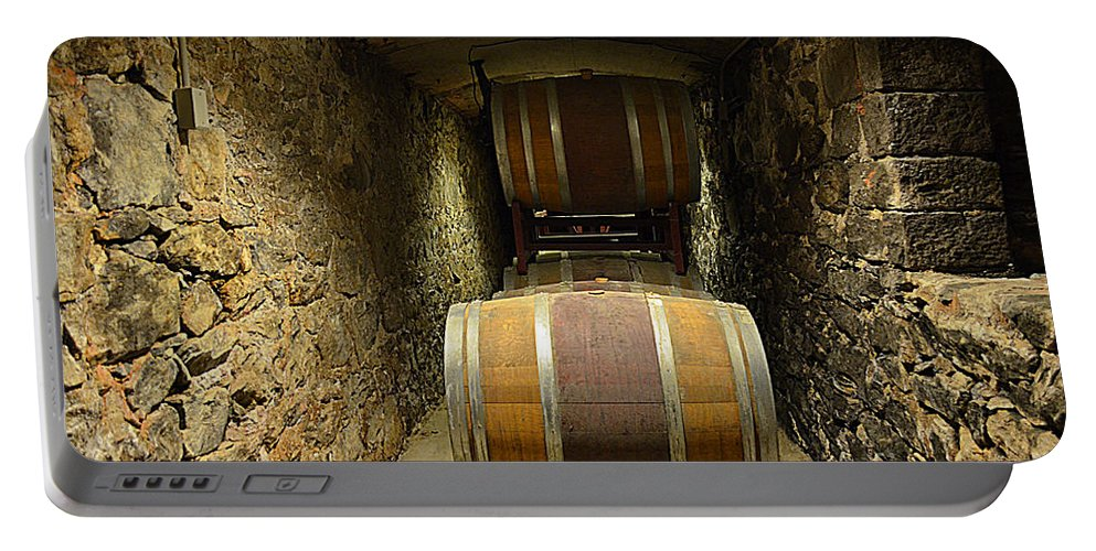 Biltmore Wine Barrels Portable Battery Charger featuring the photograph The Biltmore Estate Wine Barrels by Luther Fine Art