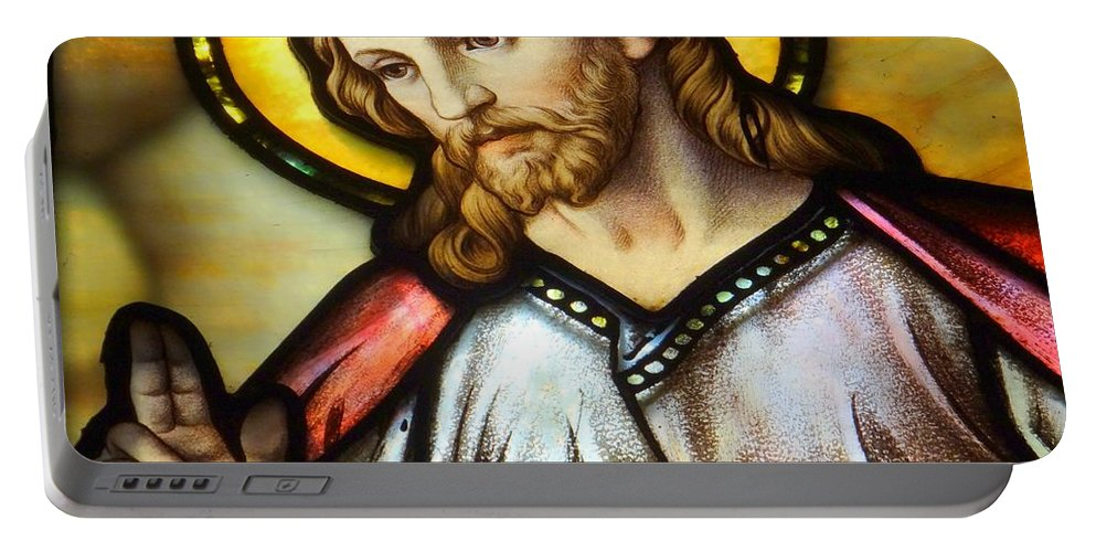 Jesus Portable Battery Charger featuring the photograph The Blessing by Ed Weidman