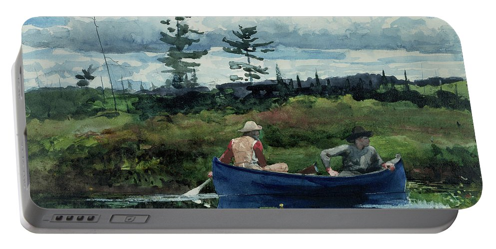 Wislow Homer Portable Battery Charger featuring the painting The Blue Boat by Winslow Homer