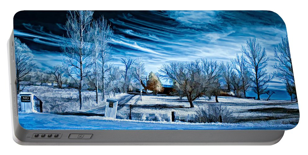Landscape Portable Battery Charger featuring the photograph The Blue Hour by Steve Harrington