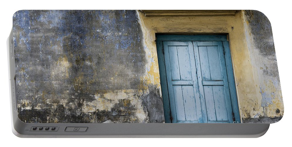 Photography Portable Battery Charger featuring the photograph The Blue Window by Ivy Ho