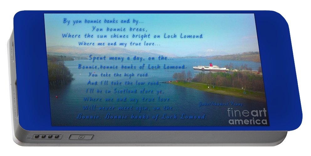Loch Lomond Portable Battery Charger featuring the photograph The Bonnie Banks Of Loch Lomond by Joan-Violet Stretch