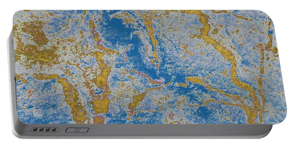 The Breakup Of Pangaea Portable Battery Charger featuring the photograph The Breakup Of Pangaea by Barbara Griffin