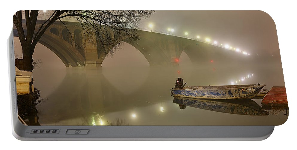 Metro Portable Battery Charger featuring the photograph The Bridge To Nowhere by Metro DC Photography