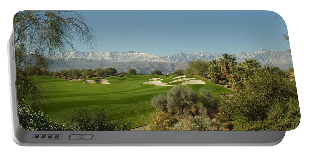 Golf Portable Battery Charger featuring the photograph The Bunkers by Barbara Snyder