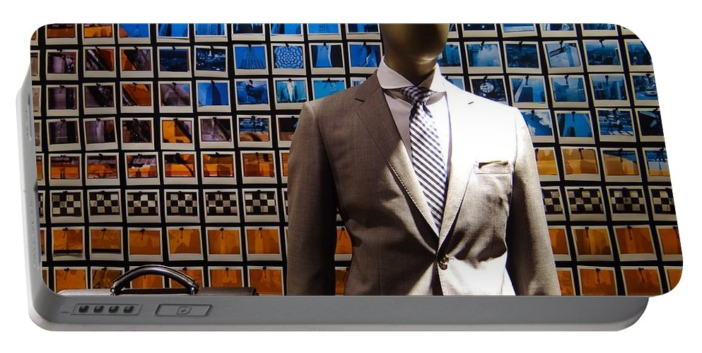 Mannequin Portable Battery Charger featuring the photograph The Businessman by Ed Weidman