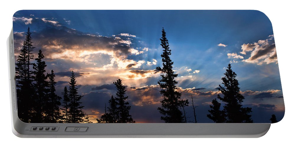 Sunsets Portable Battery Charger featuring the photograph The Calling by Jim Garrison