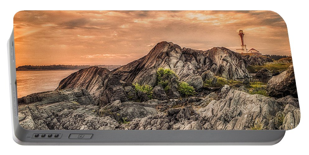 Lighthouse Portable Battery Charger featuring the photograph The Calm Before The Storm by Garvin Hunter