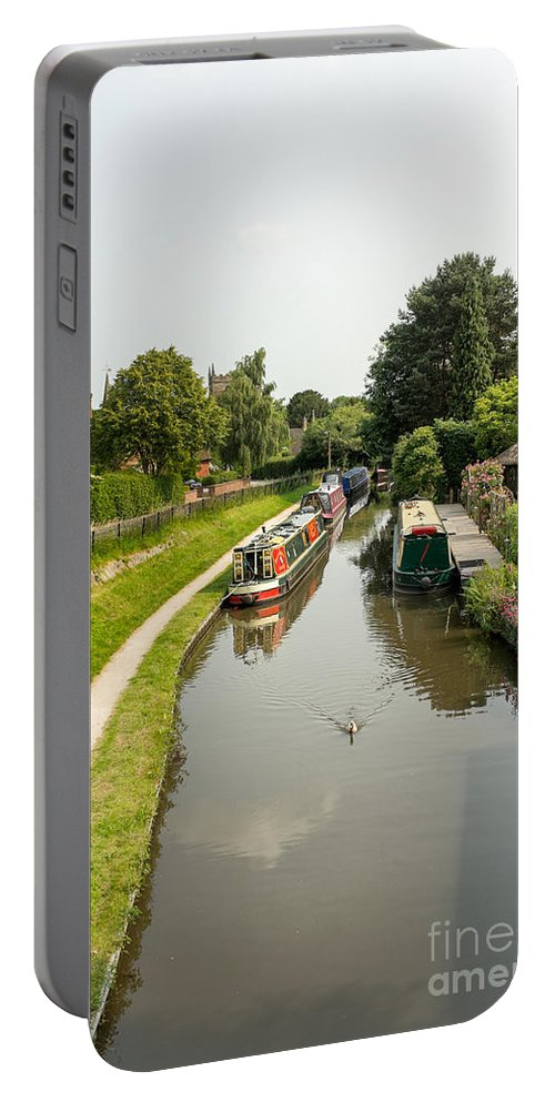 Canal Portable Battery Charger featuring the photograph The Trent And Mersey Canal At Alrewas by Ann Garrett