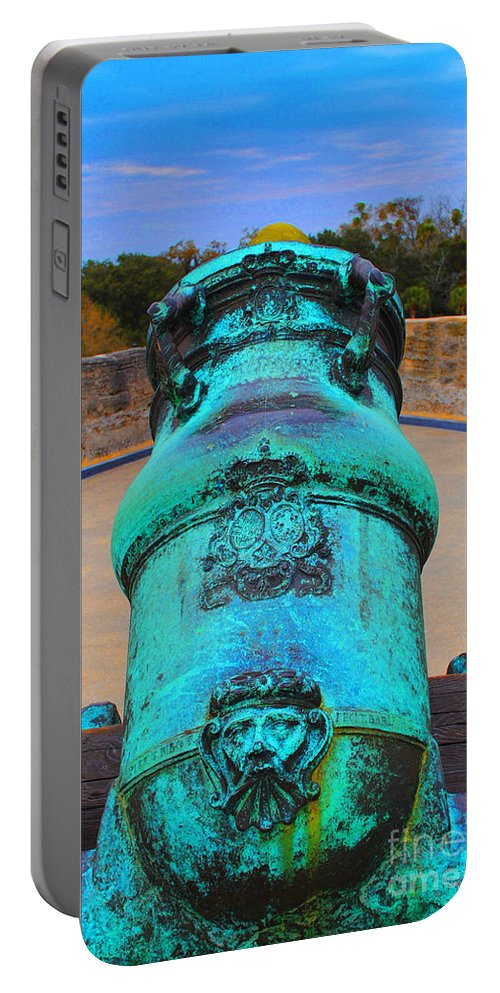 Cannon Portable Battery Charger featuring the photograph The Cannon Sun by Jost Houk