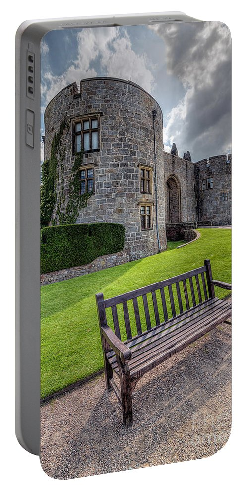 Hdr Portable Battery Charger featuring the photograph The Castle Bench by Adrian Evans