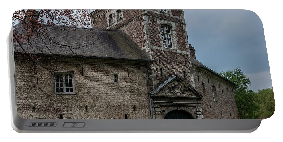 Lille Portable Battery Charger featuring the photograph The Castle Of Vert-bois Bondues by TouTouke A Y