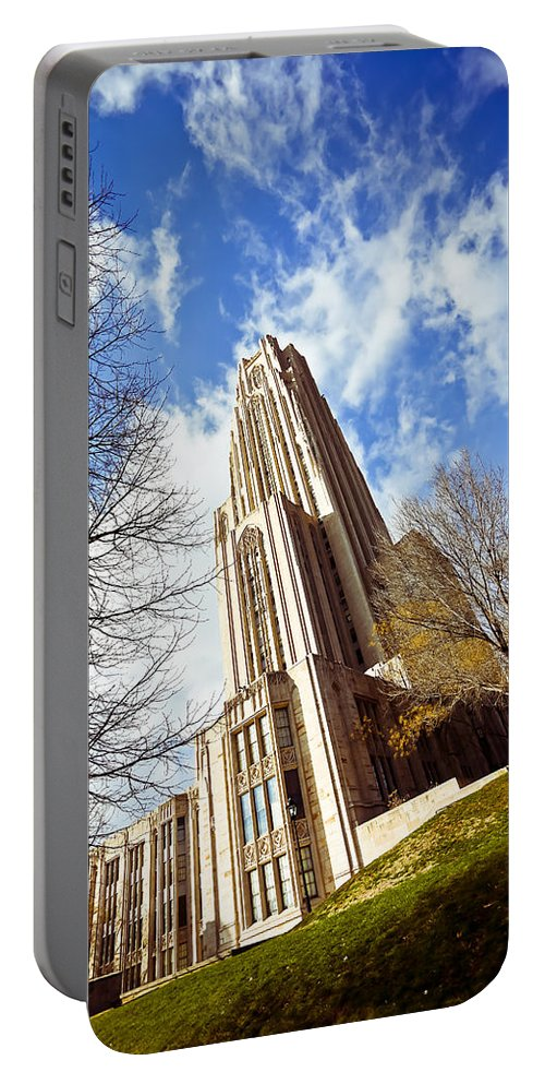 Cathedral Of Learning Pittsburgh Pa Oakland Pitt University College Education Taaffe Urban Panthers Students Frat Europe Andy Warhol Warhola East Pittsburgh Forbes Field Honus Wagner Portable Battery Charger featuring the photograph The Cathedral Of Learning 1 by Jimmy Taaffe