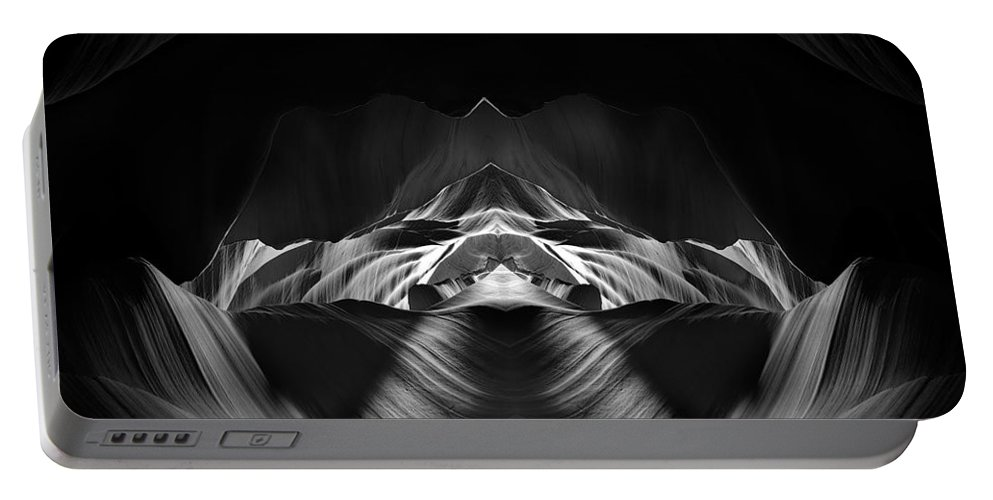 3scape Portable Battery Charger featuring the photograph The Cave by Adam Romanowicz