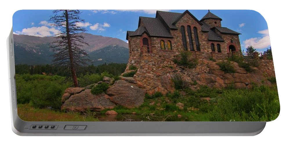Church Art Prints Portable Battery Charger featuring the photograph The Chapel On The Rock by John Malone