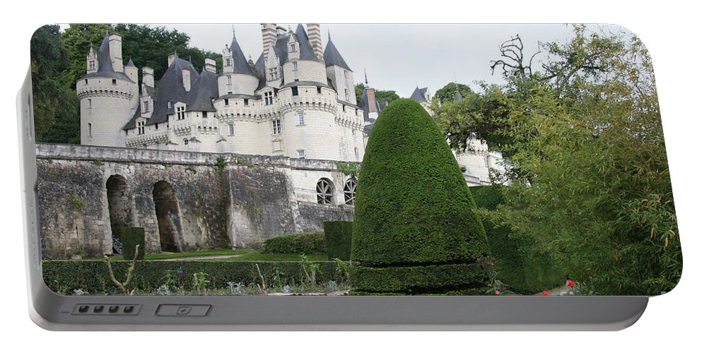 Palace Portable Battery Charger featuring the photograph The Chateau's Towers View by Christiane Schulze Art And Photography